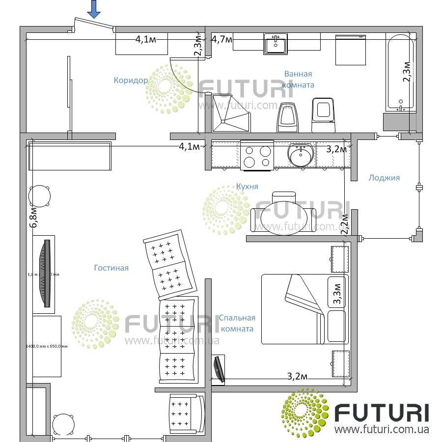Двухкомнатная квартира посуточно в центре киева drf18..